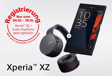 Sony Xperia XZ mit gratis Bluetooth-Kopfhörern