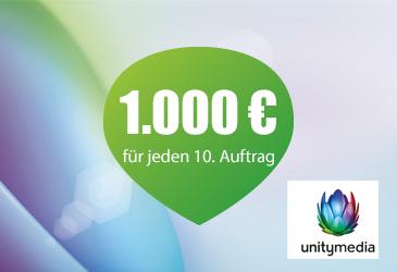 Jetzt 1000 € für jeden 10 Unitymedia Vertag sichern!