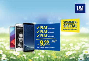 Sommer Special: 4-faches Datenvolumen bei 1&1 All-Net-Flats