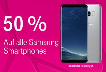 MagentaMobil: 50 % auf alle Samsung Smartphones