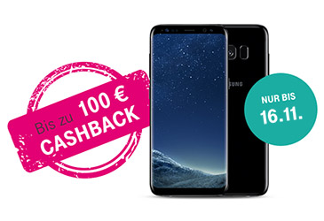 Bis zu 100,- € Cashback für MagentaMobil Tarife mit Samsung Galaxy S8 oder S8+