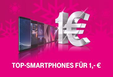 MagentaMobil: Top-Smartphones für 1,- €