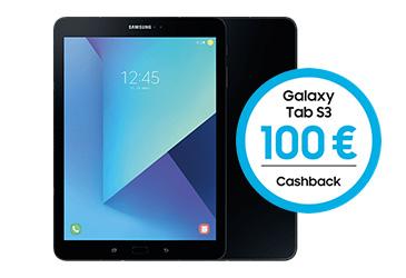 100,- € Cashback für Samsung Galaxy Tab S3
