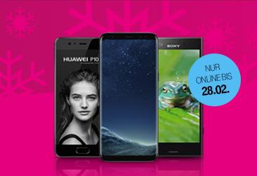 Nur online: Bis zu 100,- € Rabatt auf viele Top-Smartphones im MagentaMobil Tarif