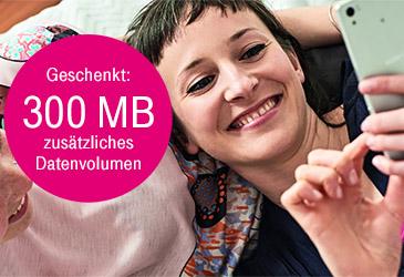 300 MB Datensnack für Ihre Telekom Mobilfunk-Kunden