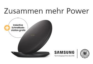 Kostenlose induktive Schnellladestation zum Samsung Galaxy S9 (Plus)