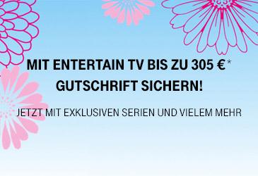Bis zu 305 € EntertainTV Gutschrift und neue EntertainTV Sat Tarife