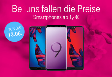 Bei der Telekom fallen die Preise – Smartphones ab 1,- €