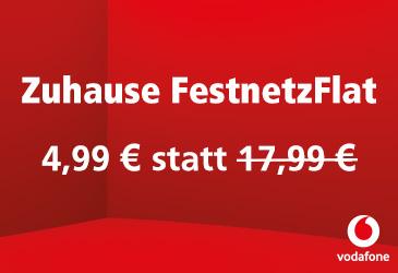 Vodafone Zuhause-FestnetzFlat für 4,99 € statt 17,99 €!