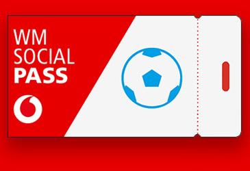 Vodafone Red-Kunden erhalten WM-Social-Pass kostenlos