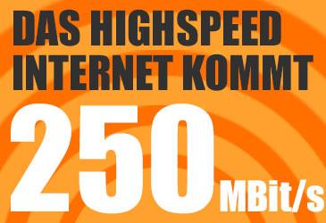 Ab August: Bis zu 250 MBit/s bei Telekom, Vodafone und 1&1