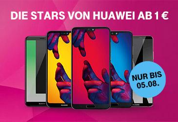 Huawei Smartphones im MagentaMobil Tarif für nur 1,- €