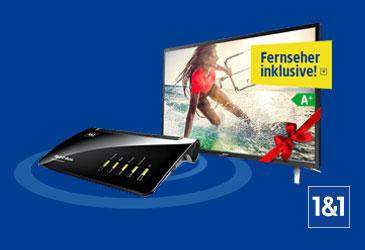 Wechsler zu 1&1 DSL erhalten einen kostenlosen Sharp Full-HD TV!