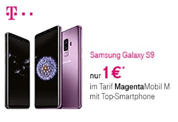 MagentaMobil M: Samsung Galaxy S9 knapp 100,- € günstiger