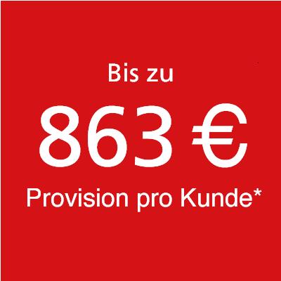 Bis zu 863 Euro Provision pro Kunde bei der TK-World AG