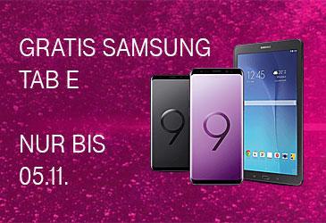 Samsung Galaxy S9/S9+ bestellen und gratis Samsung Galaxy Tab E erhalten