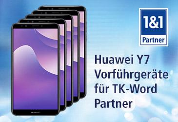 Für unsere 1&1 Partner: Huawei Y7 als Vorführgerät für das Ladengeschäft sichern