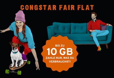 congstar Fair Flat ab sofort für Ihre Kunden buchbar