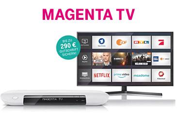 MagentaTV: Bis zu 290 € Gutschrift sichern