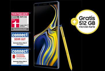 Kostenlose 512 GB microSD-Karte zum Samsung Galaxy Note9