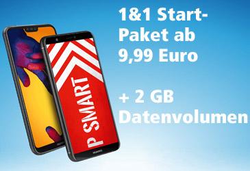 1&1 All-Net-Flat: 2 GB zusätzliches Datenvolumen und neues Einsteiger-Angebot