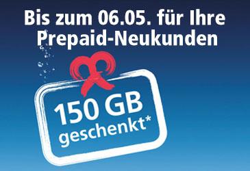 150 GB Datenvolumen für Ihre Prepaid-Neukunden