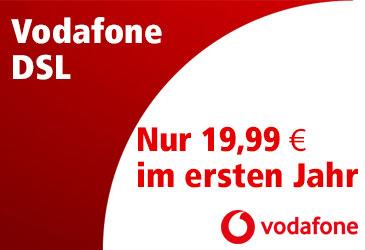 Vodafone DSL-Tarife weiterhin ab 19,99 €/Monat