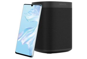 Neues Huawei P30 mit kostenlosem Sonos One WLAN-Lautsprecher für Ihre Kunden