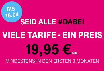 Viele Telekom Tarife für 19,95 €