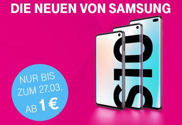 MagentaMobil: Samsung Galaxy S10 für 1,- €