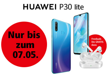 Kabellose gratis Kopfhörer für Vorbesteller des Huawei P30 lite