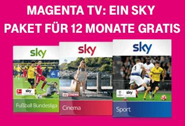 Für MagentaTV Neukunden: Ein Sky Paket 12 Monate kostenlos