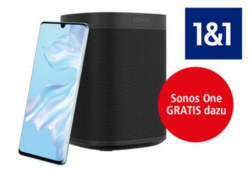 Nur bei 1&1: Sonos One weiterhin gratis zum Huawei P30