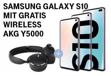 Kostenloser Wireless-Kopfhörer zum Samsung Galaxy S10