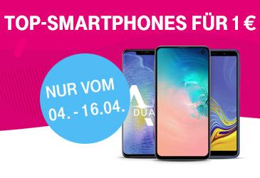 Telekom: Top-Smartphones für 1,- €