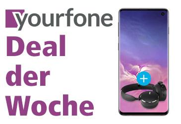 yourfone Deal der Woche: Samsung Galaxy S10 + LTE 1 GB