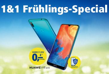 Huawei Y7 (2019) kostenlos im 1&1 Frühlings-Special