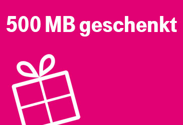 500 MB Datensnack als Dankeschön für Ihre Telekom Kunden