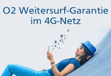 O2 Free Weitersurf-Garantie jetzt im LTE-Netz