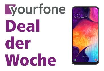 yourfone Deal der Woche: Samsung Galaxy A50 kostenlos im LTE-Tarif