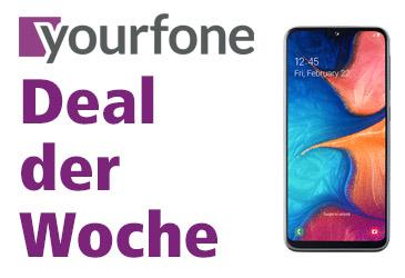 yourfone Deal der Woche: Samsung Galaxy A20e für 0,- €