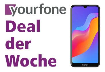 yourfone Deal der Woche: HONOR 8A für 0,- €