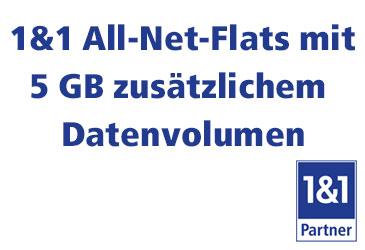1&1 All-Net-Flats mit dauerhaft mehr Datenvolumen