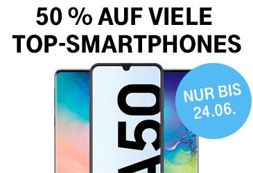 Telekom MagentaMobil: 50 % auf viele Top-Smartphones
