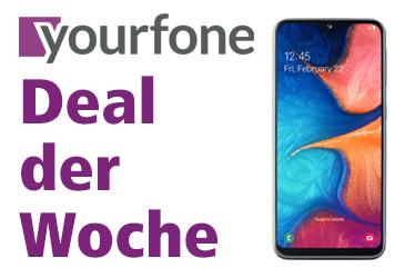 yourfone Deal der Woche: Samsung Galaxy A20e im LTE-Tarif für 0,- €
