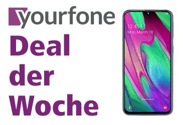 yourfone Deal der Woche: Samsung Galaxy A40 für 0,- €