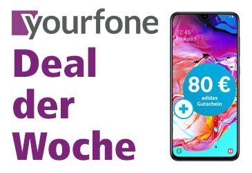 yourfone Deal der Woche: Samsung Galaxy A70