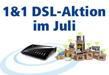 1&1 DSL: 240 Preisvorteil oder WLAN-fähiges Gerät im Juli