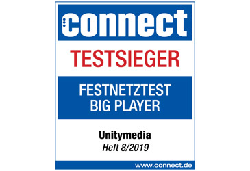 Unitymedia ist Sieger des connect Netztests 2019