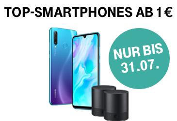 Top-Smartphones ab 1,- € bei der Telekom